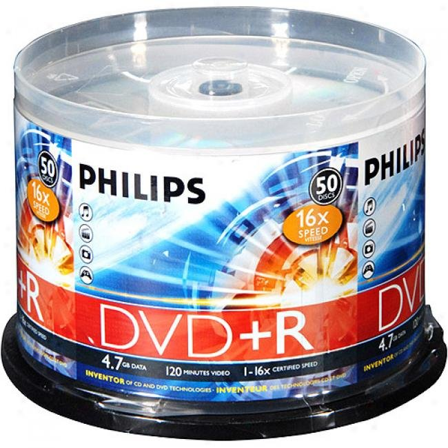 DVD+R Philips 16x printable 50pcs