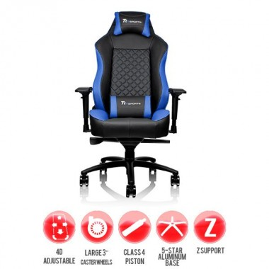 Thermaltake Gaming chair GT Comfort Black and Blue