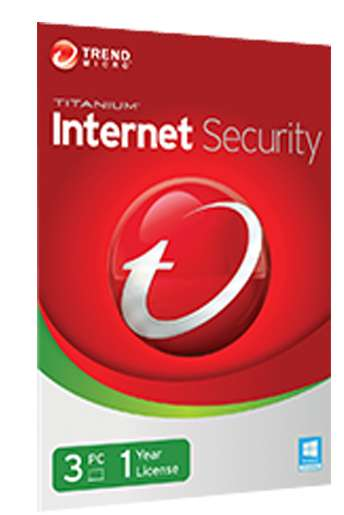 Trend Micro 2016 3pcs Internet Security